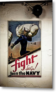 Navy Poster Fight  - Metal Print