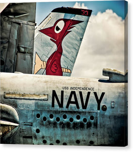 Uss Independence Navy Plane  Tail  - Canvas Print