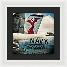 Uss Independence Navy Plane  Tail  - Framed Print