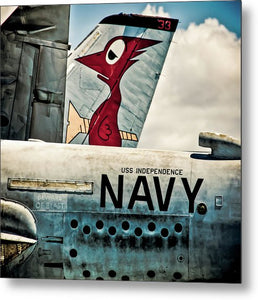 Uss Independence Navy Plane  Tail  - Metal Print