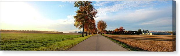 Panorama Of A Country Road - Canvas Print