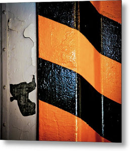 Peeling Paint N Stripe - Metal Print