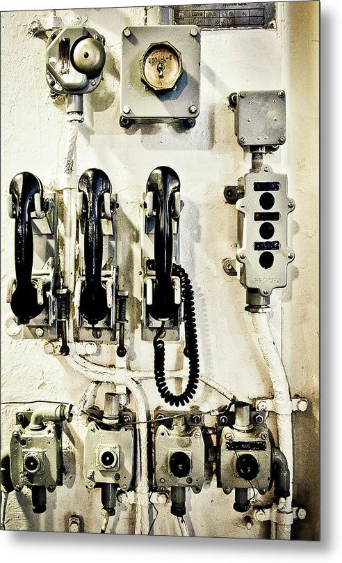 Uss Yorktown Phone Station - Metal Print