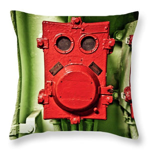 Uss Yorktown Red Box Ace - Throw Pillow
