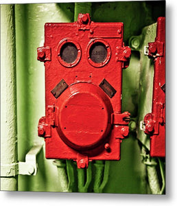 Uss Yorktown Red Box Ace - Metal Print