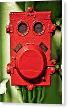 Uss Yorktown Red Box Face Two - Canvas Print