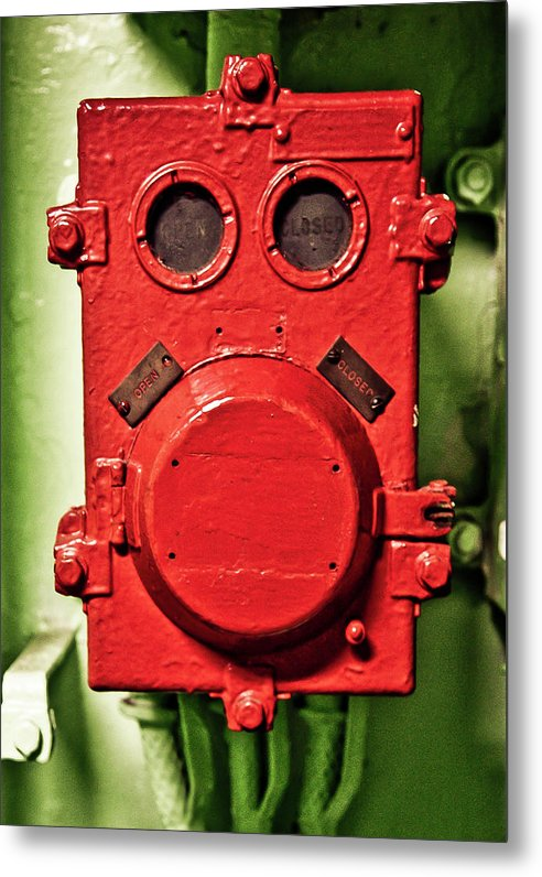 Uss Yorktown Red Box Face Two - Metal Print
