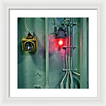 Uss Yorktown Red Light 4 - Framed Print