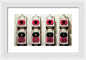 Uss Yorktown Red And Black Boxes - Framed Print