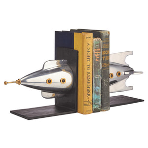 ROCKET BOOKENDS ALUMINUM