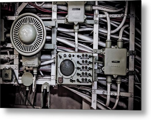 Uss Yorktown Speaker Box Four - Metal Print