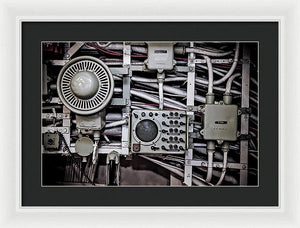 Uss Yorktown Speaker Box Four - Framed Print