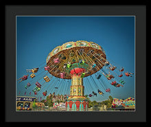 Carousel Swings - Framed Print