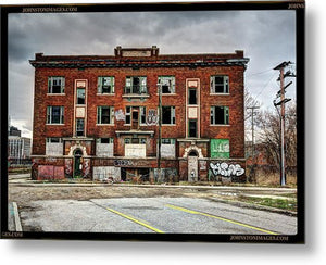Urban Decay Building In Detroit - Metal Print