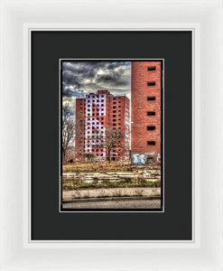 Urban Decay Buildings In Detroit - Framed Print