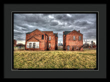 Urban Decay Houses In Detroit - Framed Print