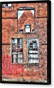 Urban Wall In Detroit - Canvas Print