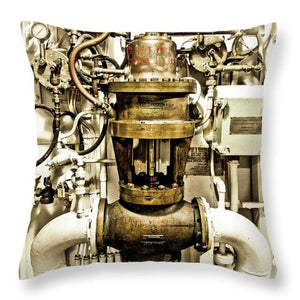 Uss Yorktown Valve #1 - Throw Pillow