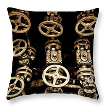 Uss Yorktown Valves Four - Throw Pillow