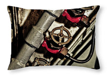 Uss Yorktown Valves Three - Throw Pillow