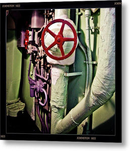 Uss Yorktown Wheel Valve Two - Metal Print