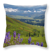 Wild Flowers  Yellowstone National Park - Throw Pillow