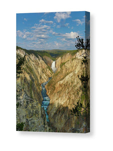 Yellowstone Falls In The Grand Canyon Of The Yellowstone - Canvas Print
