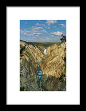 Yellowstone Falls In The Grand Canyon Of The Yellowstone - Framed Print