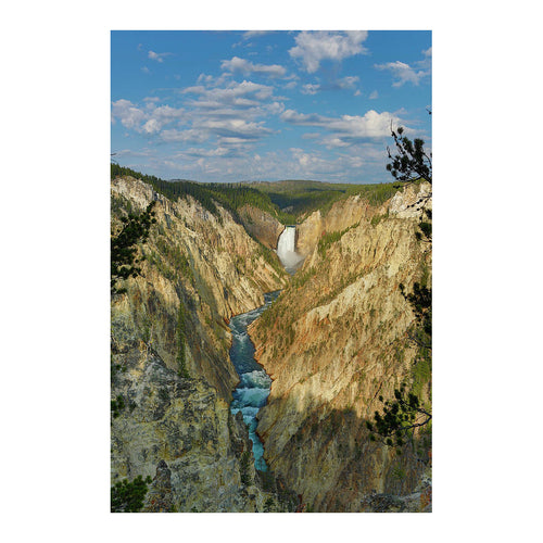 Yellowstone Falls In The Grand Canyon Of The Yellowstone - Art Print