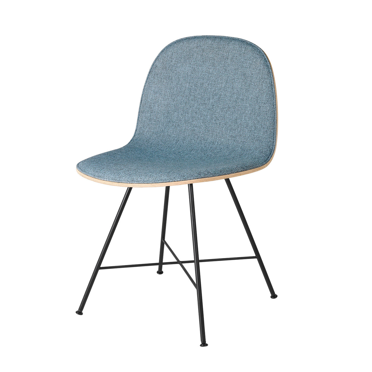 2D Dining Chair: Center Base + Front Upholstery