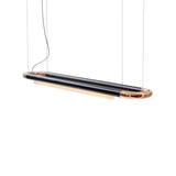 Pipeline CM6 Pendant Light: Black + Copper End