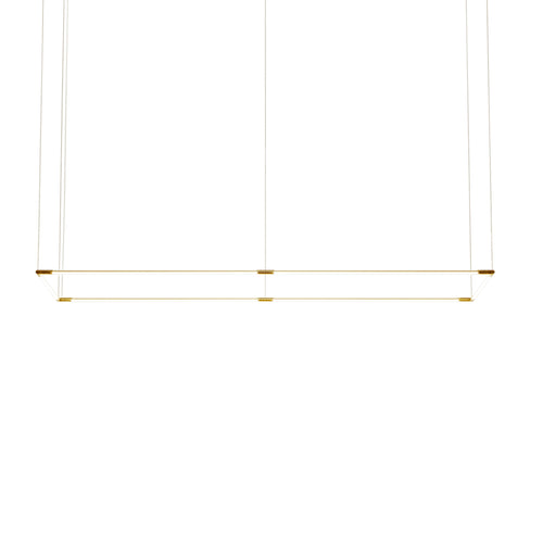 Thin Primaries Rectangle: Large + Satin Brass