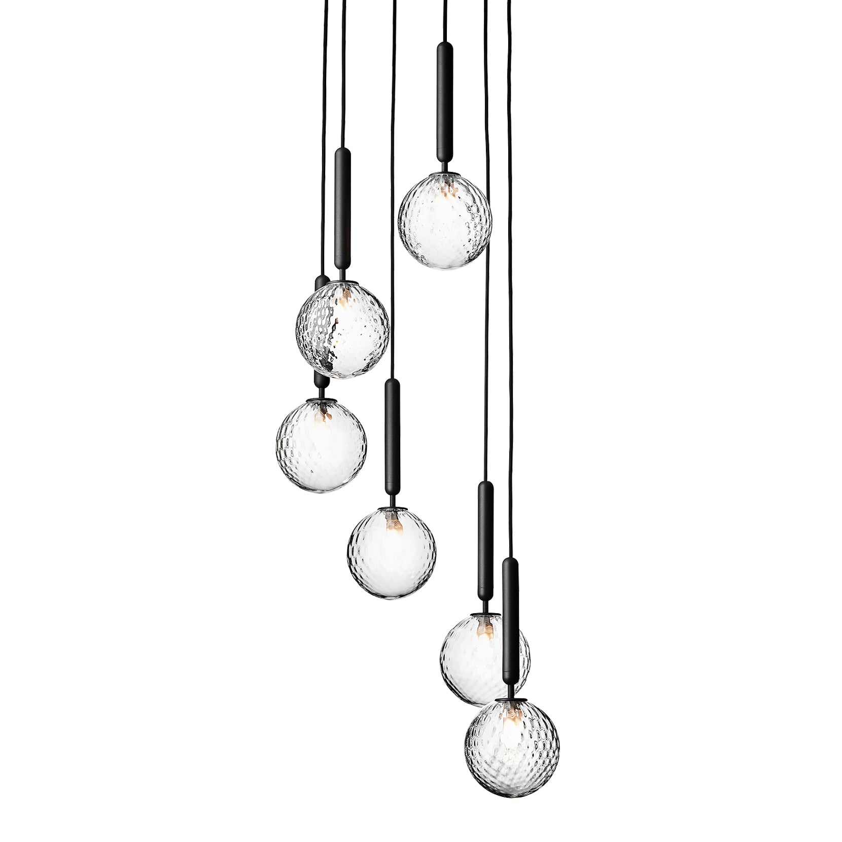 Miira 6 Chandelier: Optic Clear + Small
