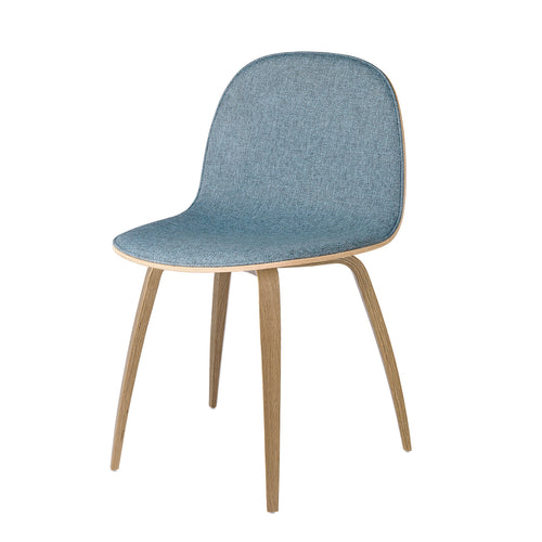 2D Dining Chair: Wood Base + Front Upholstery