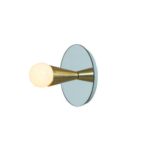 Echo 1 Sconce: Brass
