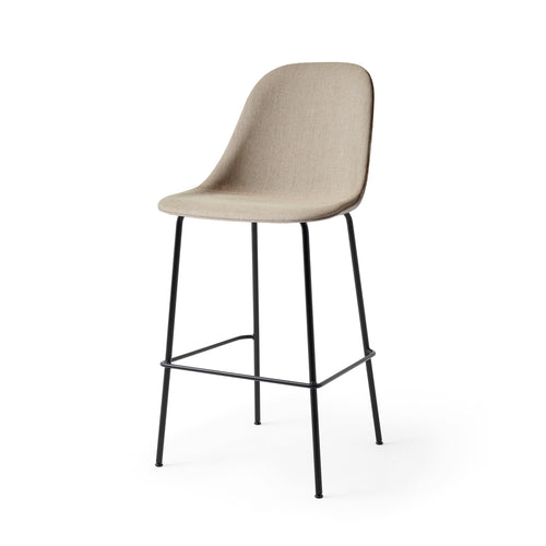 Harbour Bar + Counter Side Chairs: Steel Base Upholstered
