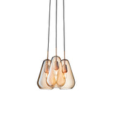 Anoli 3 Chandelier: Gold