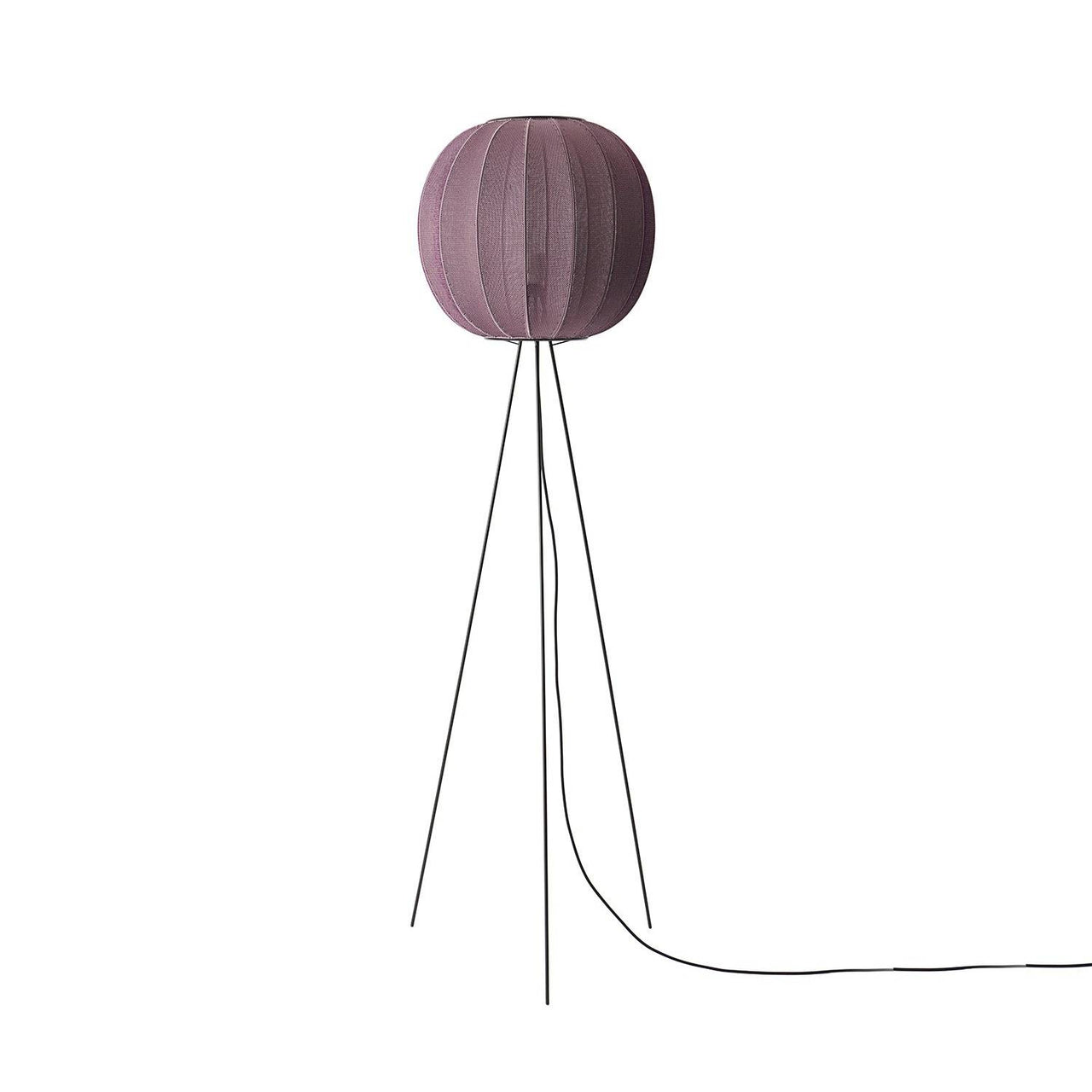 Knit-Wit Floor Lamp: Round 45 + High + Burgundy