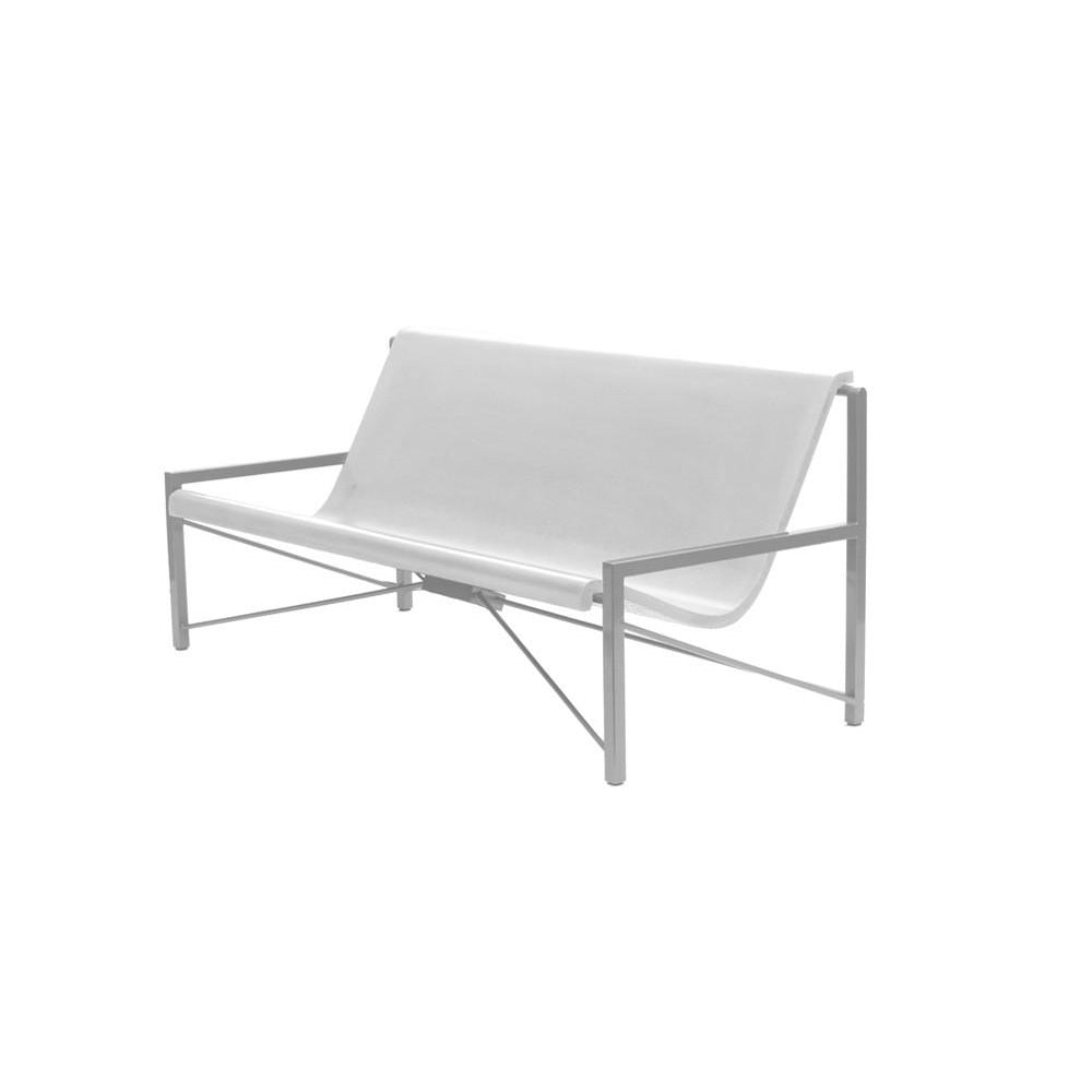 Evia Lounge with Adjustable Heating: Silver + Arctic White