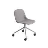 Fiber Side Chair Swivel Base With Castors: Upholstered