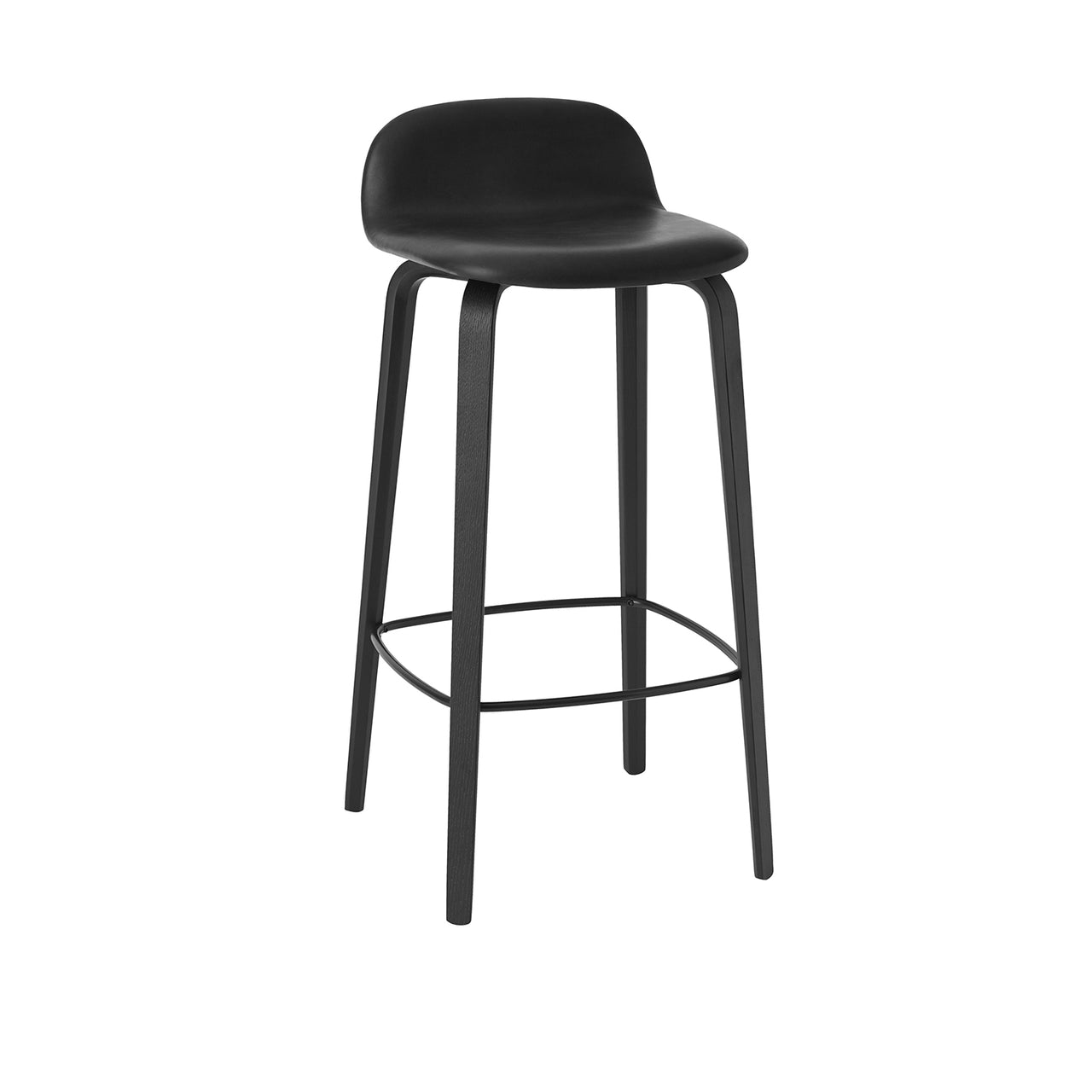 Visu Bar Stool: Upholstered