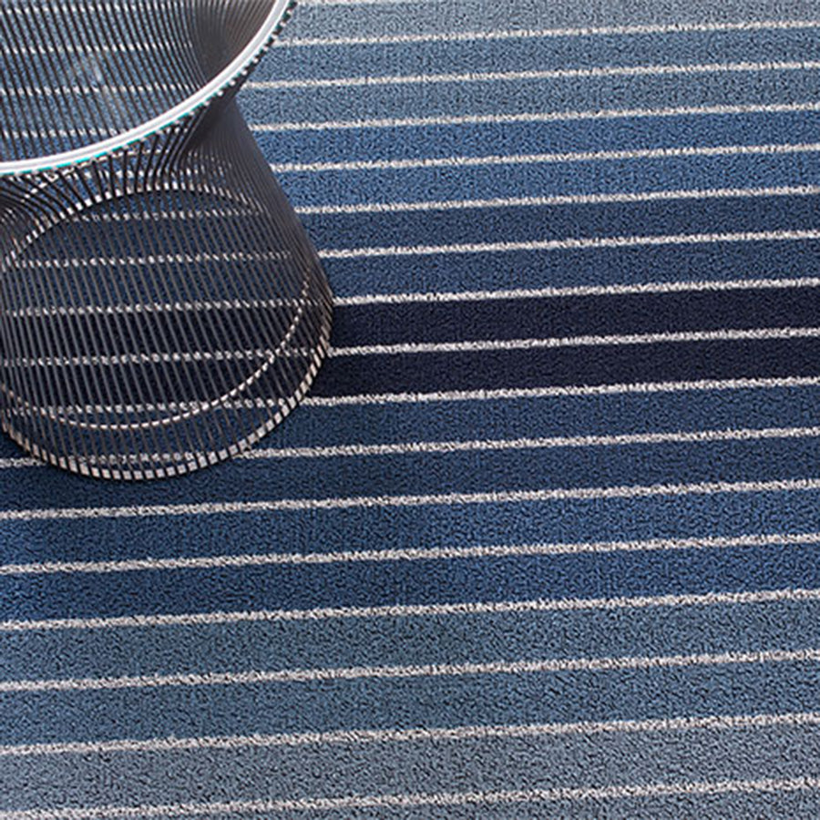 Block Stripe Shag Indoor/Outdoor Floor Mat