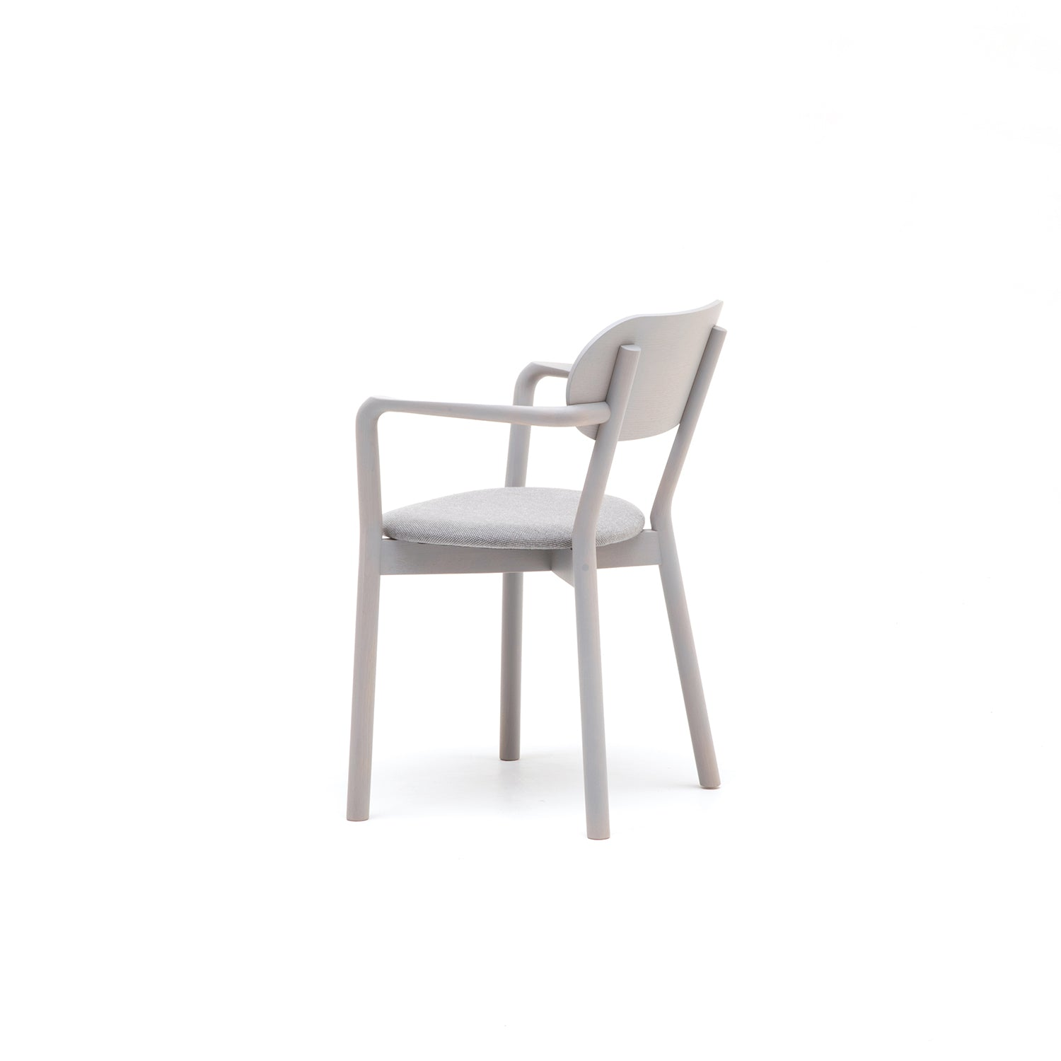 Castor Armchair Plus with Pad: Grain Grey Oak + With Pad