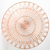 The Drum Ottoman/Table: Gold or Copper: No Top + Copper