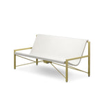 Evia Lounge with Adjustable Heating: Brass + Arctic White