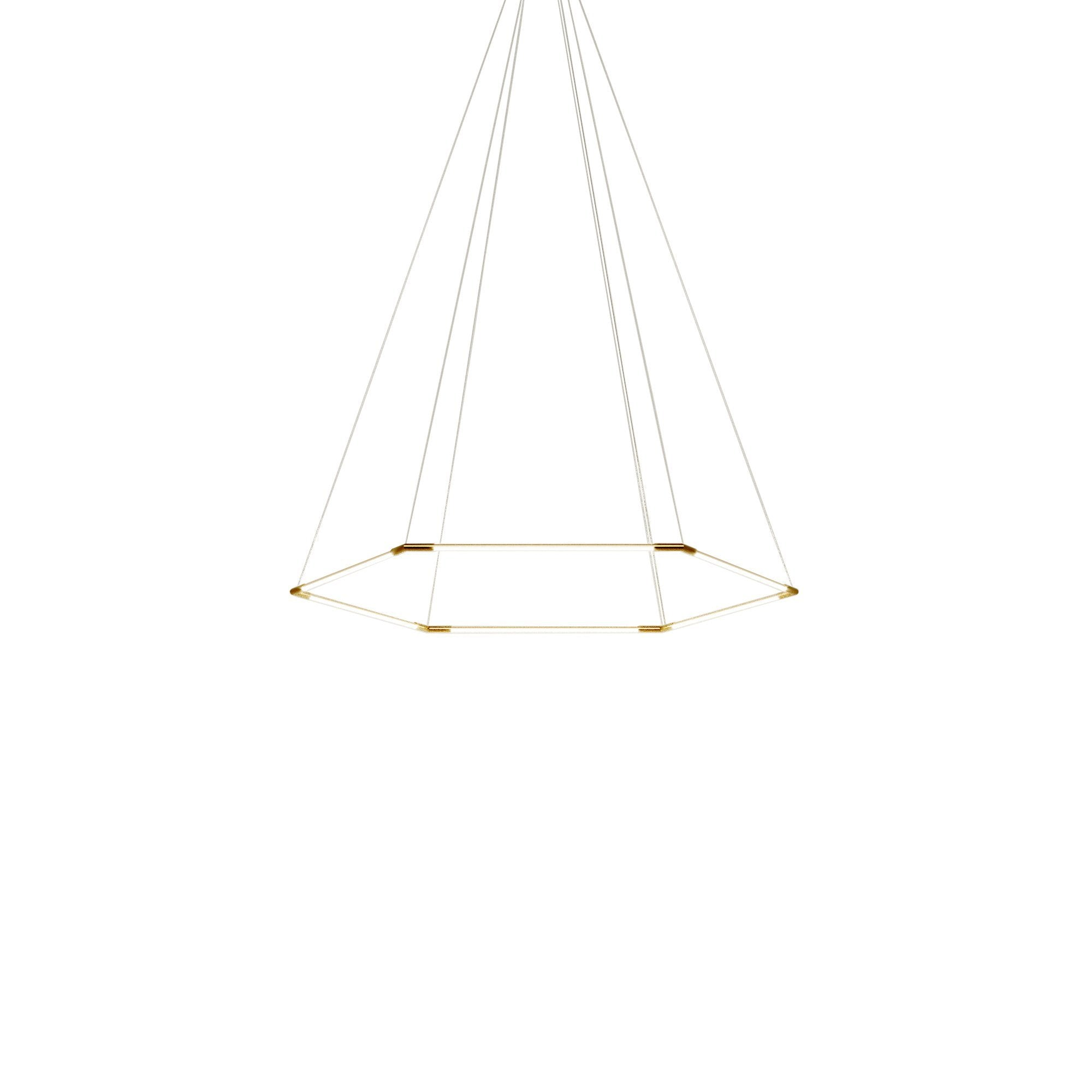 Thin Primaries Hexagon: Small + Satin Brass