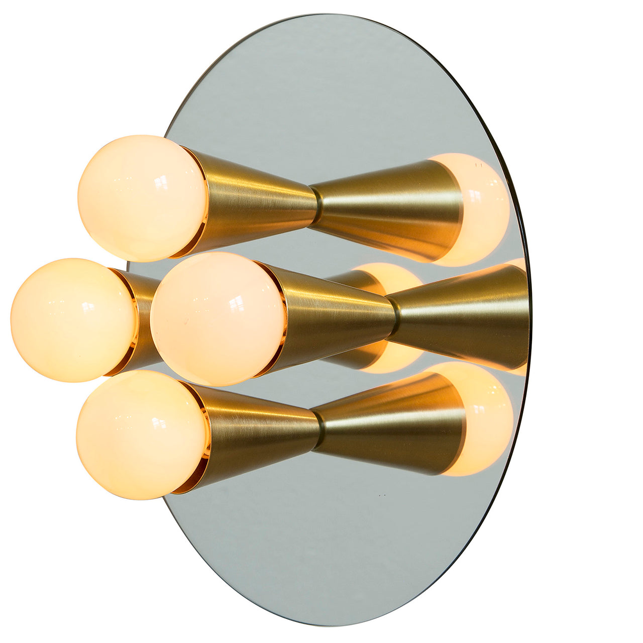 Echo 4 Sconce: Brass