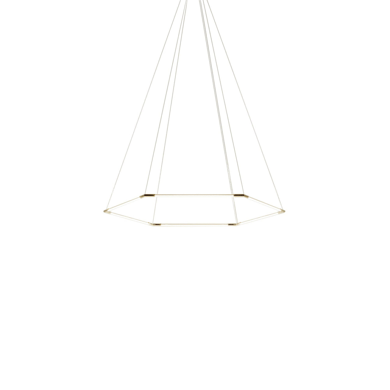 Thin Primaries Hexagon: Small + Satin Nickel