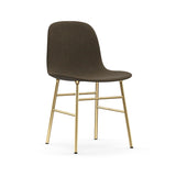 Form Chair: Brass Upholstered