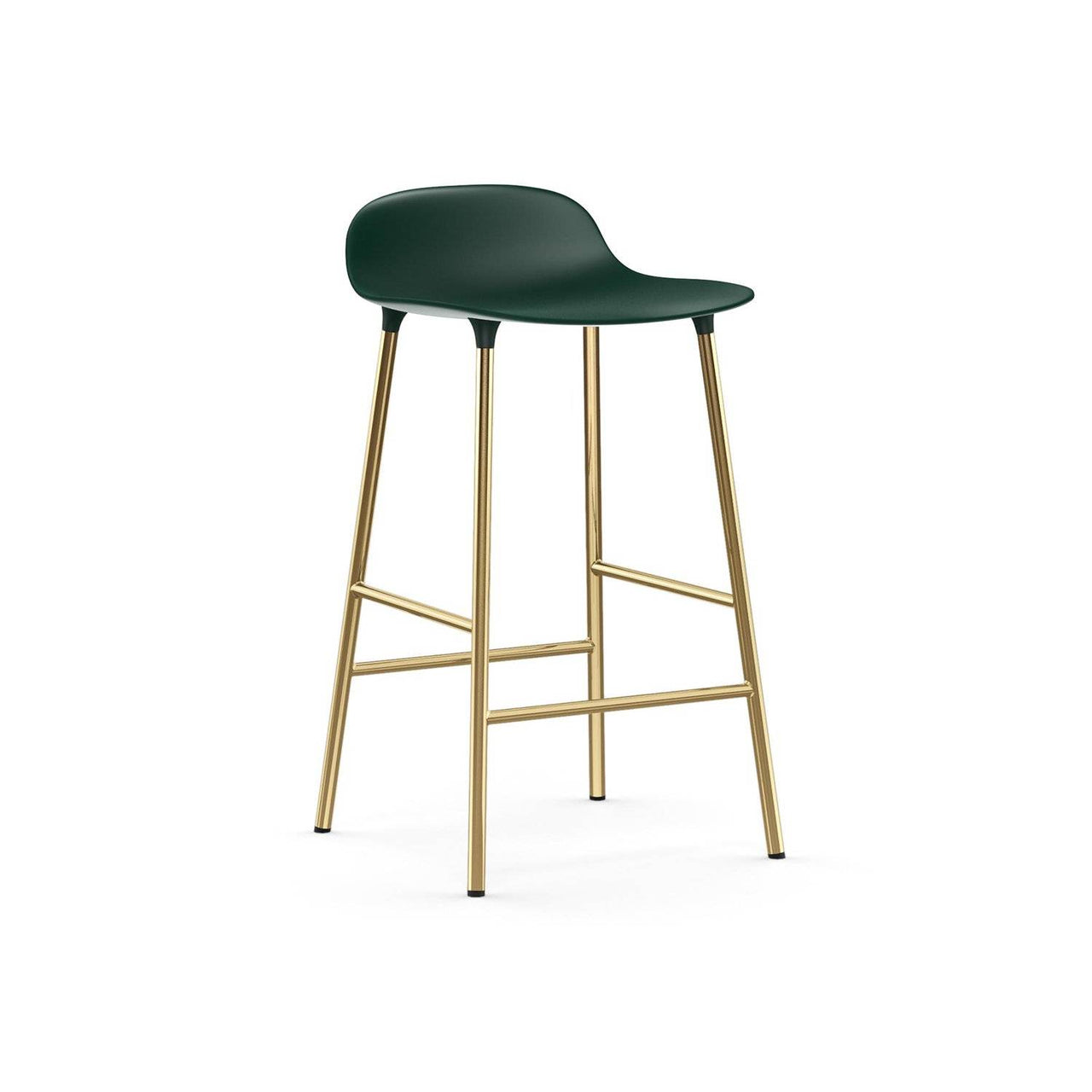 Form Bar + Counter Stool: Brass